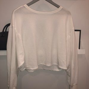 Garage white long sleeve flowy top